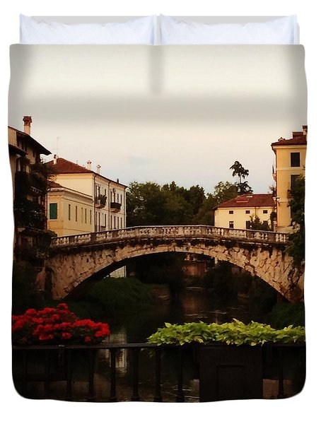 Downtown Vicenza Duvet Cover
