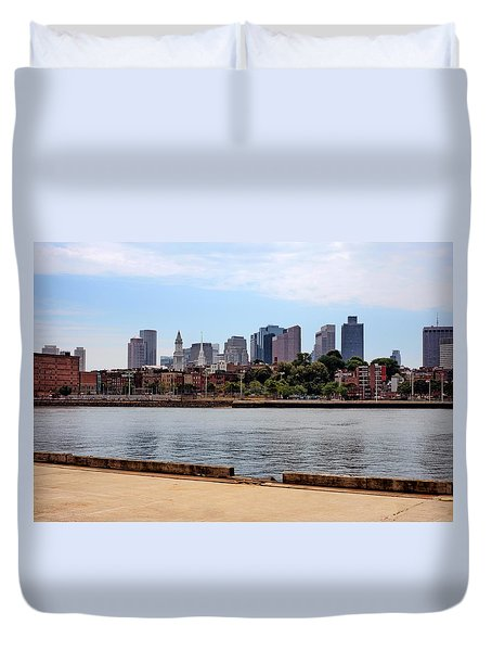 Downtown View In Boston Duvet Cover