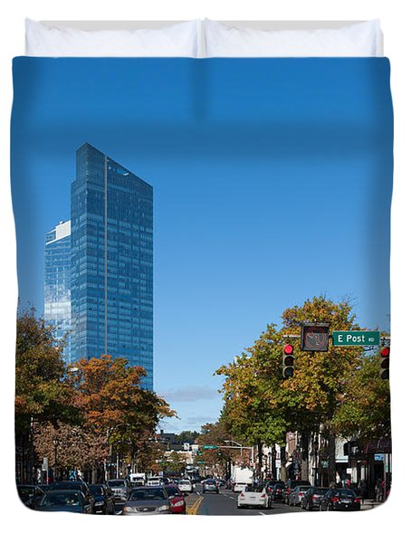 Downtown White Plains New York IIi Duvet Cover