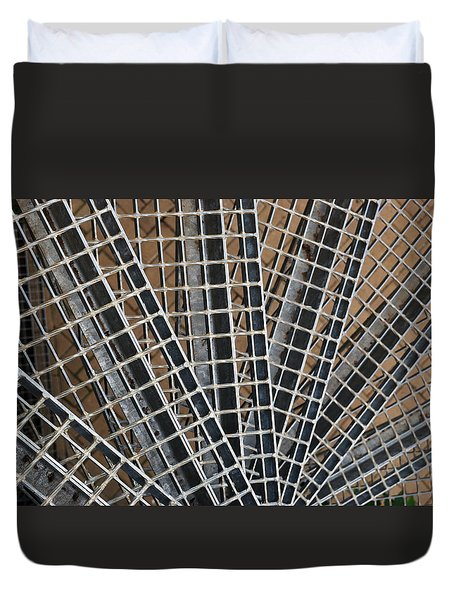 Duvet Cover featuring the photograph Downward Spiral by Wendy Wilton