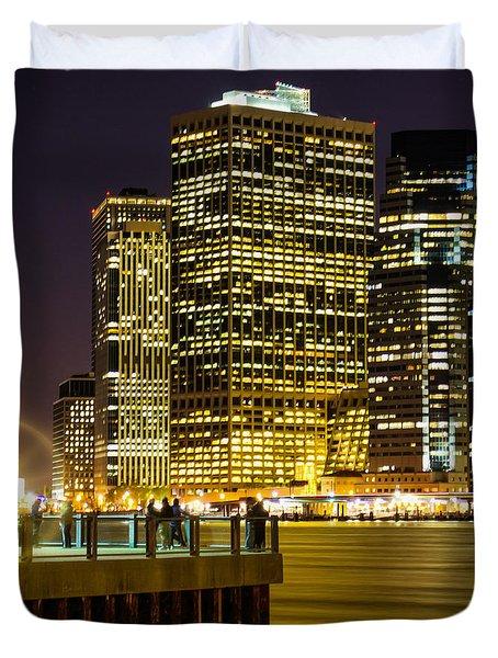 Downtown Lights Duvet Cover