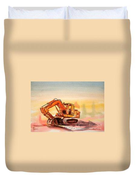 Dozer In Watercolor  Duvet Cover by Kip DeVore