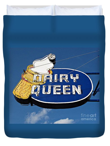 Dq Cone Sign Duvet Cover by Ethna Gillespie