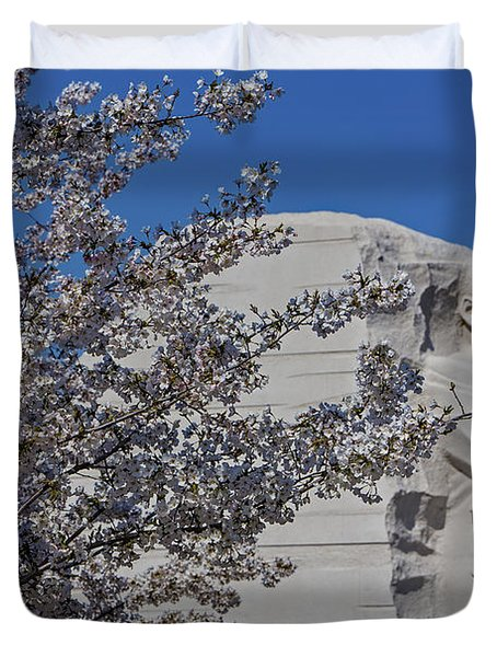 Dr Martin Luther King Jr Memorial Duvet Cover by Susan Candelario