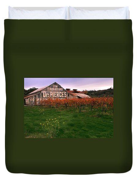 Dr Pierce's Barn Billboard Duvet Cover by Jerry McElroy