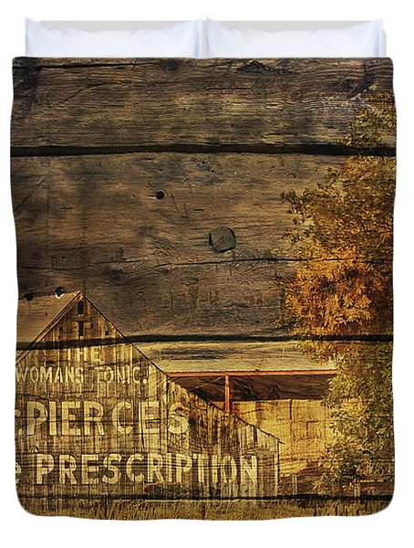 Dr. Pierce's Barn Duvet Cover by Priscilla Burgers