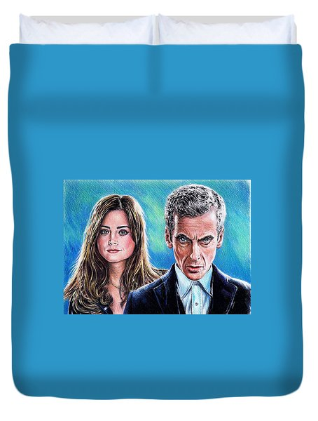 Dr Who And Clara Duvet Cover