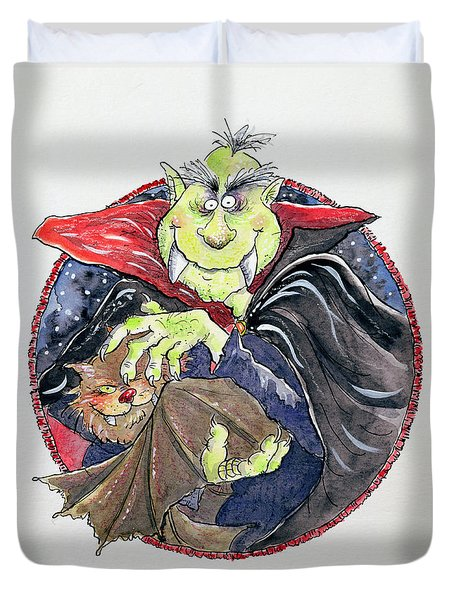Dracula Duvet Cover by Maylee Christie