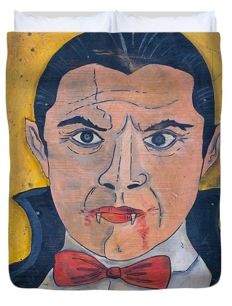Duvet Cover featuring the painting Dracula by Eric Cunningham