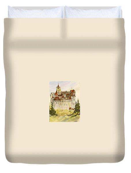 Dracula's Castle In Bran Romania Duvet Cover