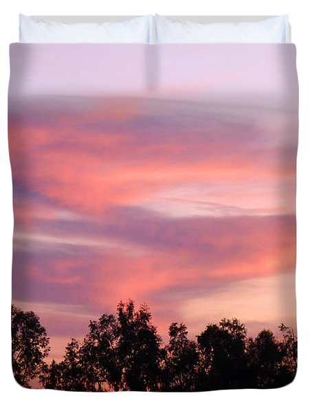 Duvet Cover featuring the photograph Dragon Clouds by Meghan at FireBonnet Art