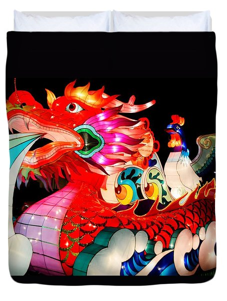 Dragon Float Duvet Cover