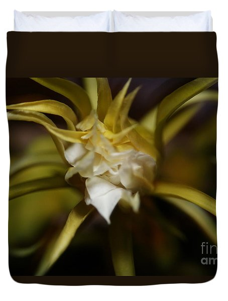 Duvet Cover featuring the photograph Dragon Flower by David Millenheft