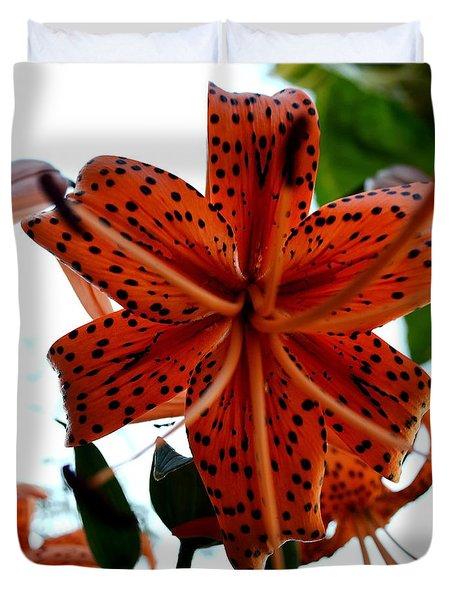 Dragon Flower Duvet Cover