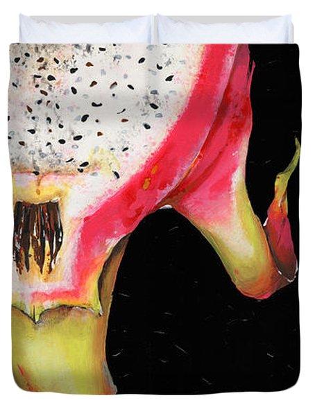 dragon fruit red and yellow -Elena Yakubovich Duvet Cover by Elena Yakubovich