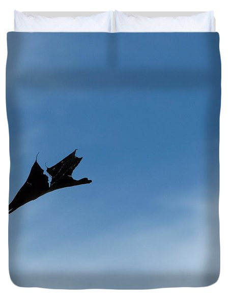 Duvet Cover featuring the photograph Dragon In Flight by Jane Ford