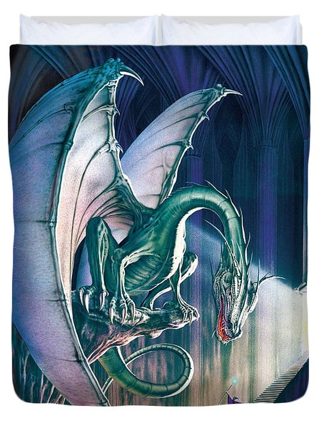 Dragon Lair With Stairs Duvet Cover by The Dragon Chronicles - Robin Ko