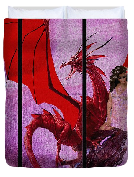 Dragon Power-featured In Comfortable Art Group Duvet Cover by EricaMaxine  Price