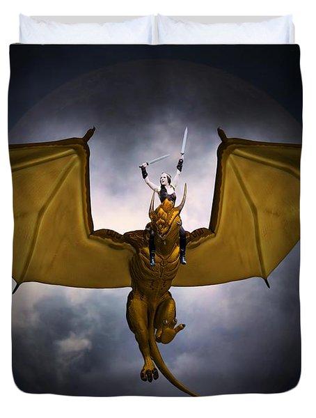 Dragon Rider Duvet Cover