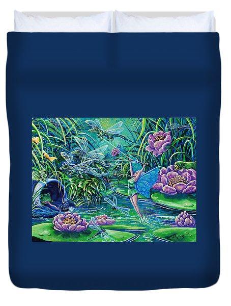 Dragonflies Duvet Cover by Gail Butler