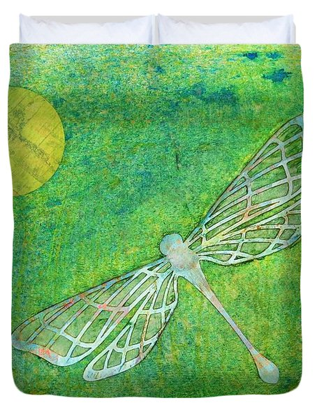 Dragonfly Duvet Cover by Desiree Paquette