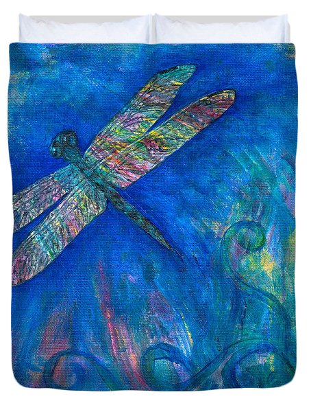 Dragonfly Flying High Duvet Cover