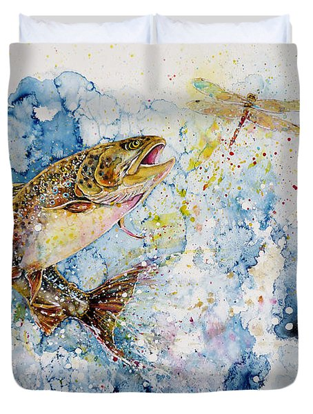 Dragonfly Hunter Duvet Cover