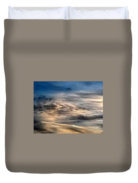 Dragonfly In The Sky Duvet Cover
