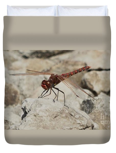 Duvet Cover featuring the photograph Dragonfly by J L Zarek