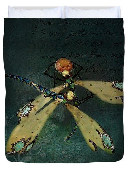 Dragonfly Romance Duvet Cover