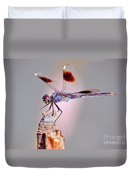 Duvet Cover featuring the photograph Dragonfly by Savannah Gibbs