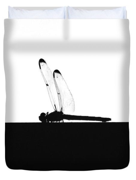 Dragonfly Silhouette Duvet Cover by Maggy Marsh