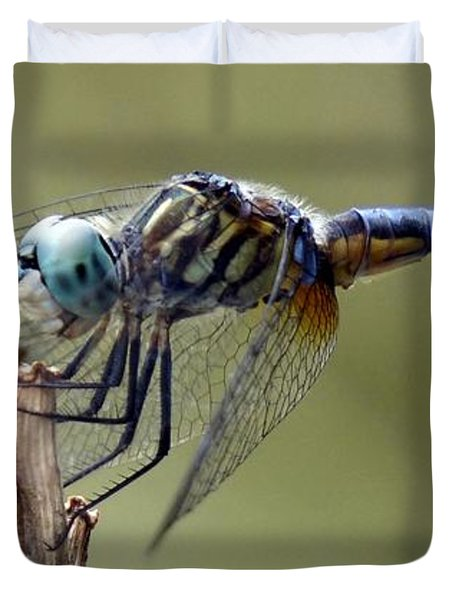 Dragonfly Smile Duvet Cover by Lilliana Mendez
