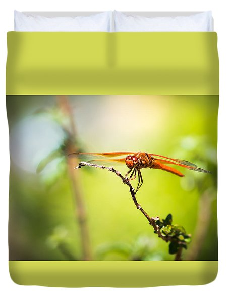 Dragonfly Smile Duvet Cover by Priya Ghose