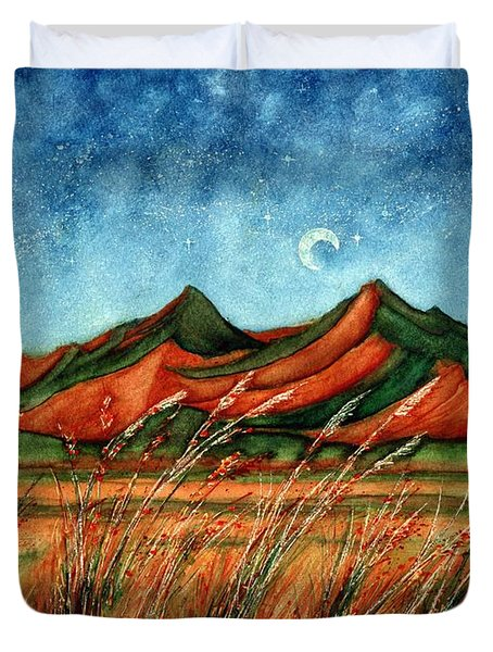 Dragoon Mountains Southwest Az Duvet Cover