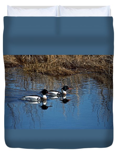 Drakes A Pair Duvet Cover by Skip Willits