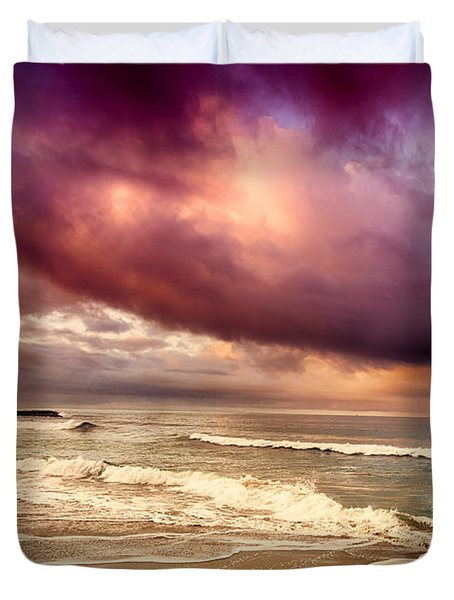 Dramatic Beach Duvet Cover by David Millenheft