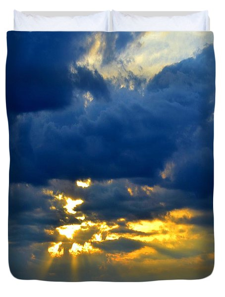 Dramatic Clouds Duvet Cover by Luther Fine Art