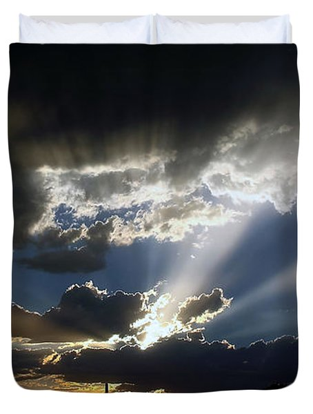 Dramatic Monsoon Sunset Duvet Cover