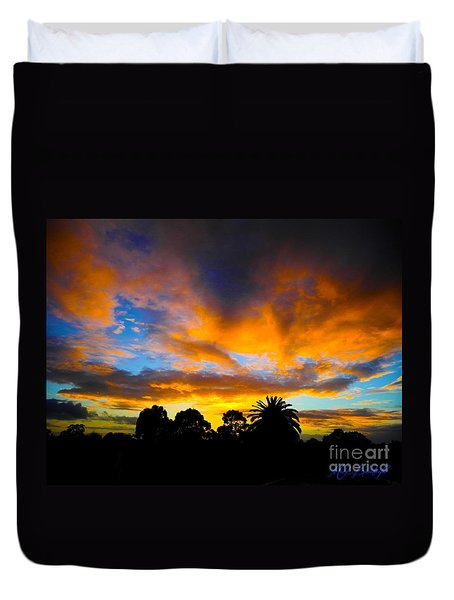 Dramatic Sunset Duvet Cover by Mark Blauhoefer