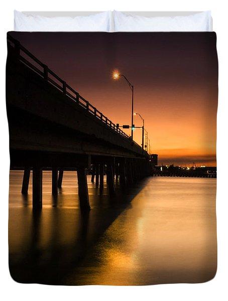 Drawbridge At Sunset Duvet Cover