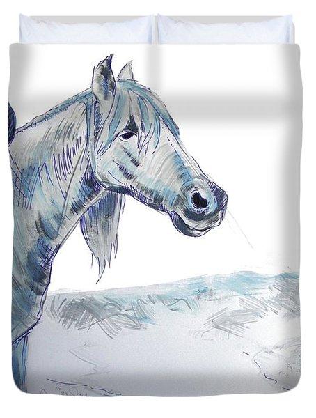 Drawing Horses Duvet Cover