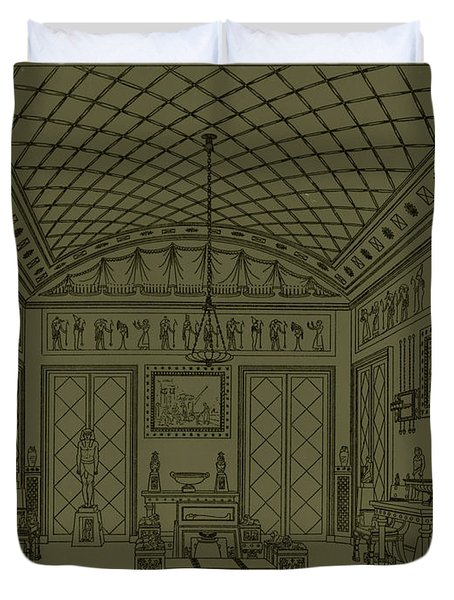 Drawing Room With Egyptian Decoration Duvet Cover