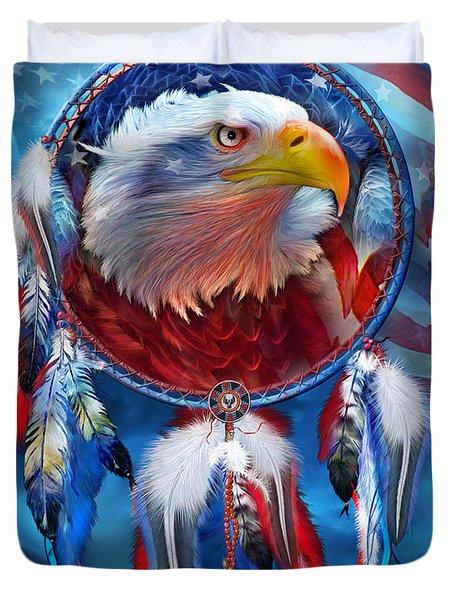 Dream Catcher - Eagle Red White Blue Duvet Cover