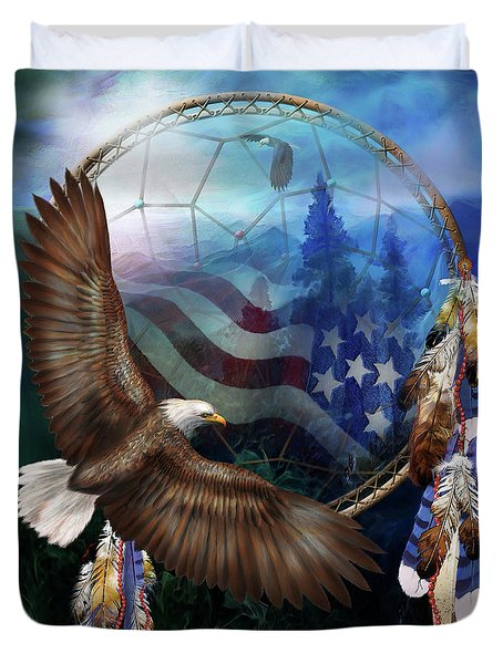 Dream Catcher - Freedom's Flight Duvet Cover