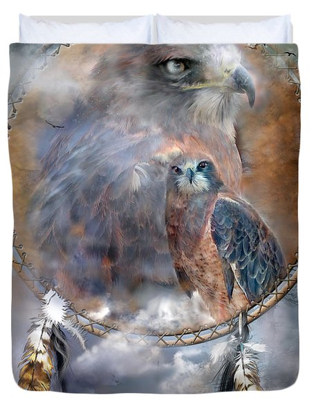Dream Catcher - Hawk Spirit Duvet Cover