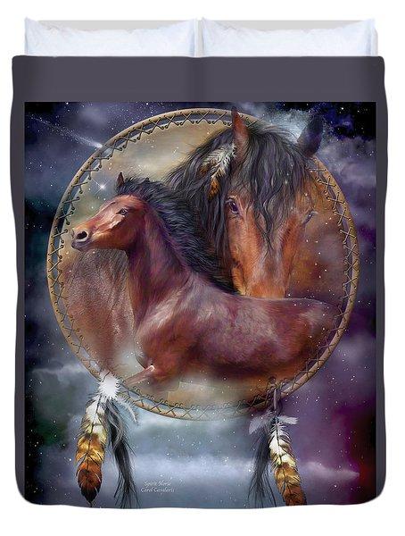 Dream Catcher - Spirit Horse Duvet Cover