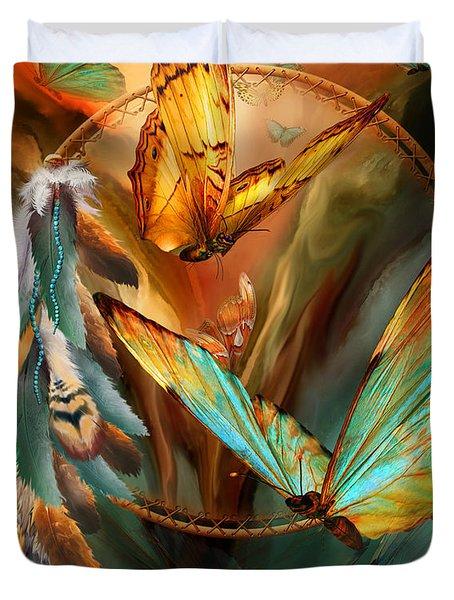Dream Catcher - Spirit Of The Butterfly Duvet Cover