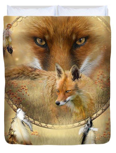 Dream Catcher- Spirit Of The Red Fox Duvet Cover