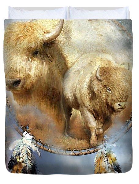 Dream Catcher - Spirit Of The White Buffalo Duvet Cover